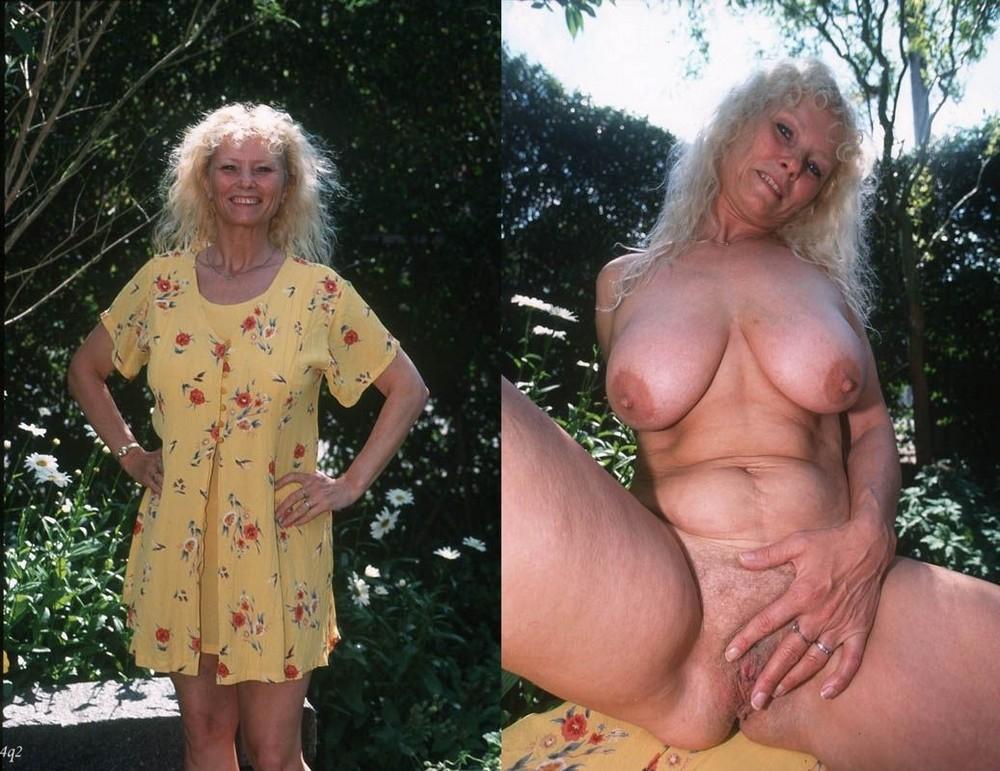 matures nues et habillées fille sexy et nu
